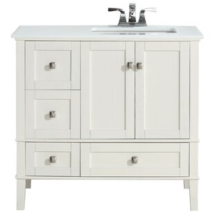 Chelsea Right Offset 37 Single Bathroom Vanity Set