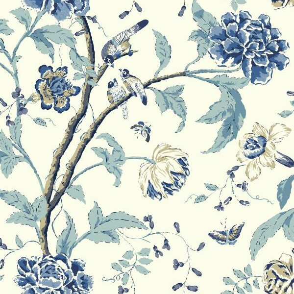 "Carey Lind Vibe 27' x 27"" Floral Teahouse Wallpaper Roll"