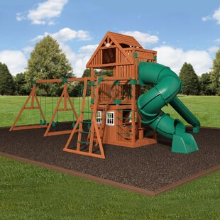 Backyard Discovery Traverse Cedar All Cedar Swing Set