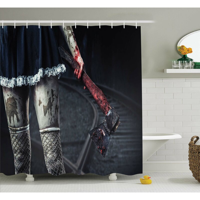 Horror House Dark Underground Tunnel In Minery Spooky Mystery Cave Ground Surface Photo Shower Curtain Set