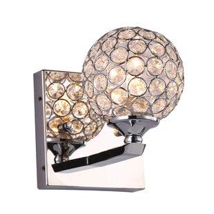 Everly Quinn Launcest 1-Light LED Bath Sconce