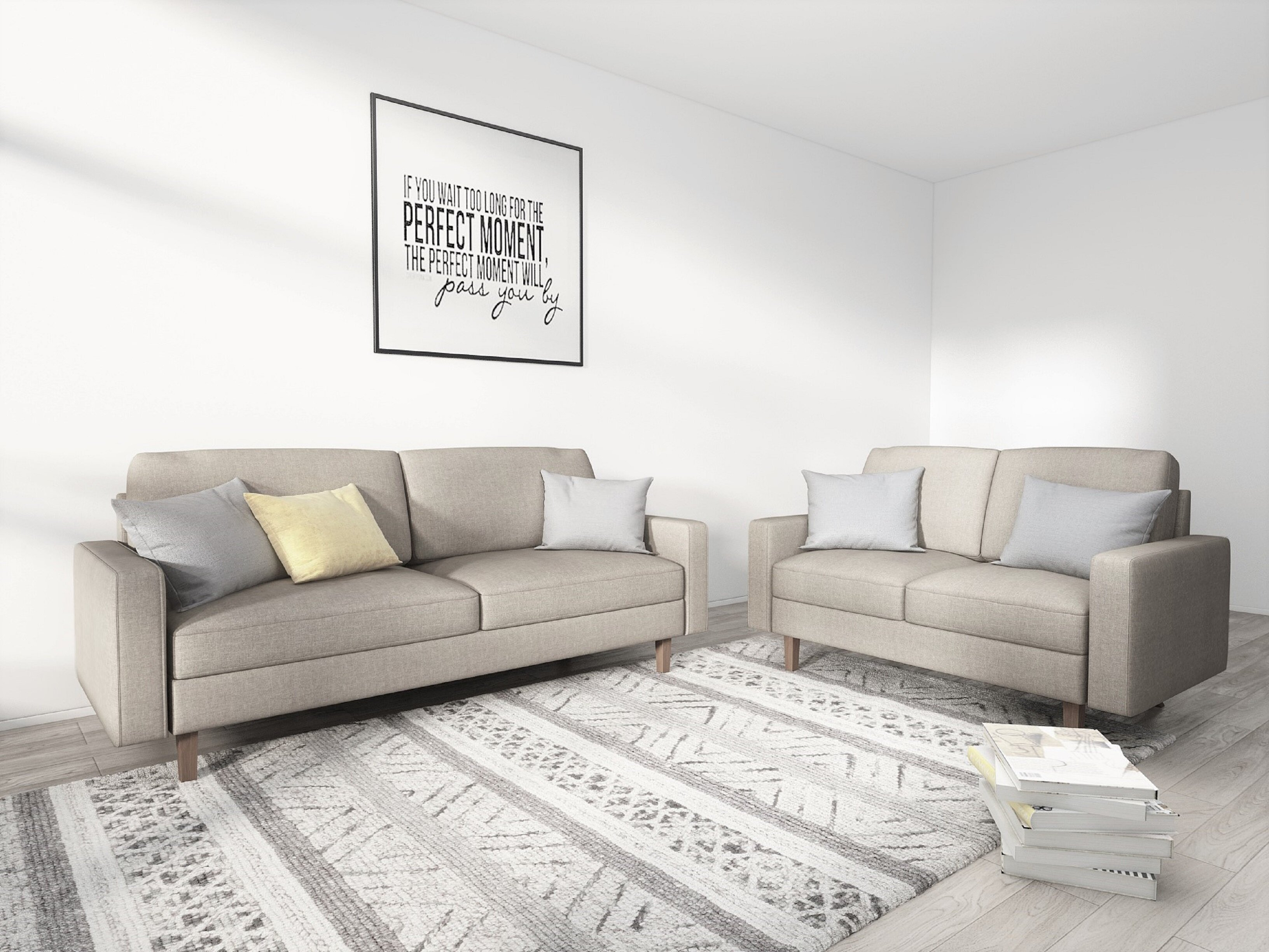 George oliver stephan modern 2 piece living room set wayfair
