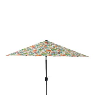 Pillow Perfect Lensing Jungle 9' Market Umbrella