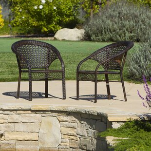 Palmyra Wicker Club Chair (Set Of 2) by August Grove Coupon