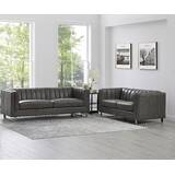 Walbourne 2 Piece Leather Living Room Set by Orren Ellis