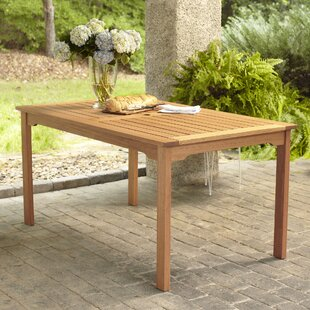 Elsmere Solid Wood Dining Table by Beachcrest Home