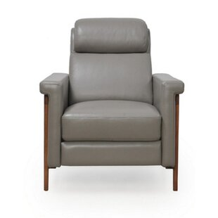 Whelchel Power Italian Leather Recliner by Brayden Studio Wonderful