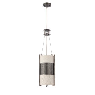 Brayden Studio Ferriera 1-Light Cylinder Pendant