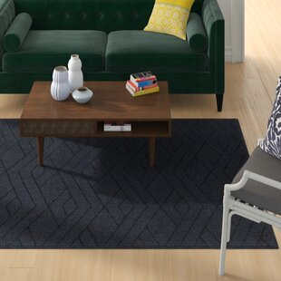 Best Reviews Pulcova Hand Woven Wool Black Area Rug ByWrought Studio