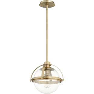 Doucet Meridian 1-Light Globe Pendant by Breakwater Bay