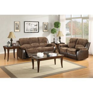 Welling Reclining Configurable Genuine Leather Living Room Set