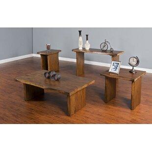 Loon Peak Alsatia 4 Piece Coffee Table Set