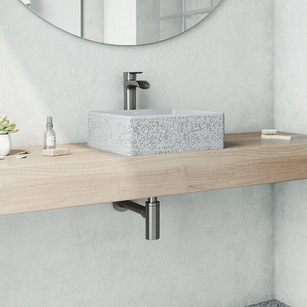Vigo Handmade Aster Stone Square Vessel Bathroom Sink With Faucet Reviews Wayfair