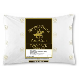 Best Price Beverly Hill Polo Club Firm Fiber Pillow (Set of 2) By Linen Depot Direct