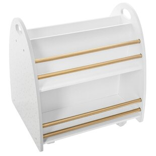 Silver 50cm Book Cart By Isabelle & Max