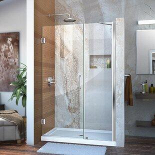 Unidoor 46 x 72 Hinged Frameless Shower Door by DreamLine