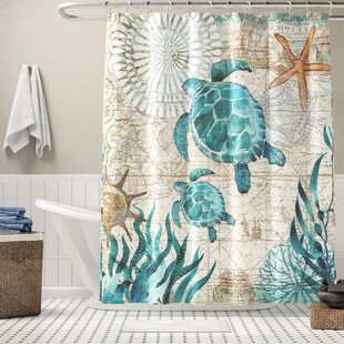 Briarton Turtles Single Shower Curtain