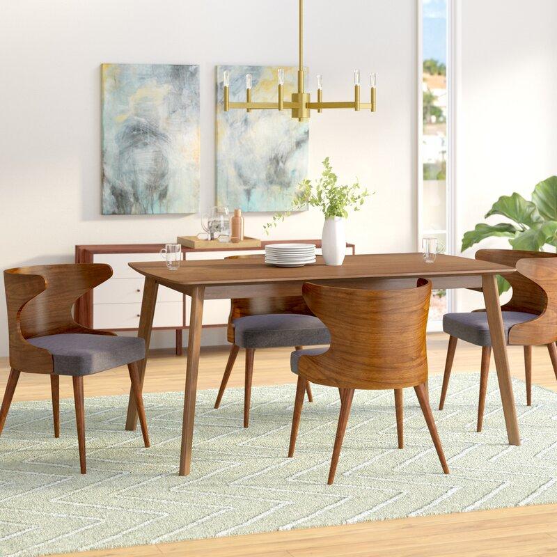 Camille 5 Piece Walnut Mid Century Dining Set