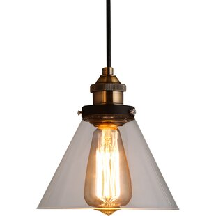 Williston Forge Andino 1-Light Cone Pendant