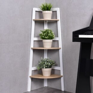 Ormond 3-Tier Wood Ladder Wall Display Corner Unit