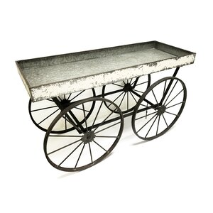 Shabby Elegance Flower Cart Display Plant Stand