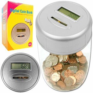 Ultimate Automatic Digital Coin Counting Bank by Trademark Games