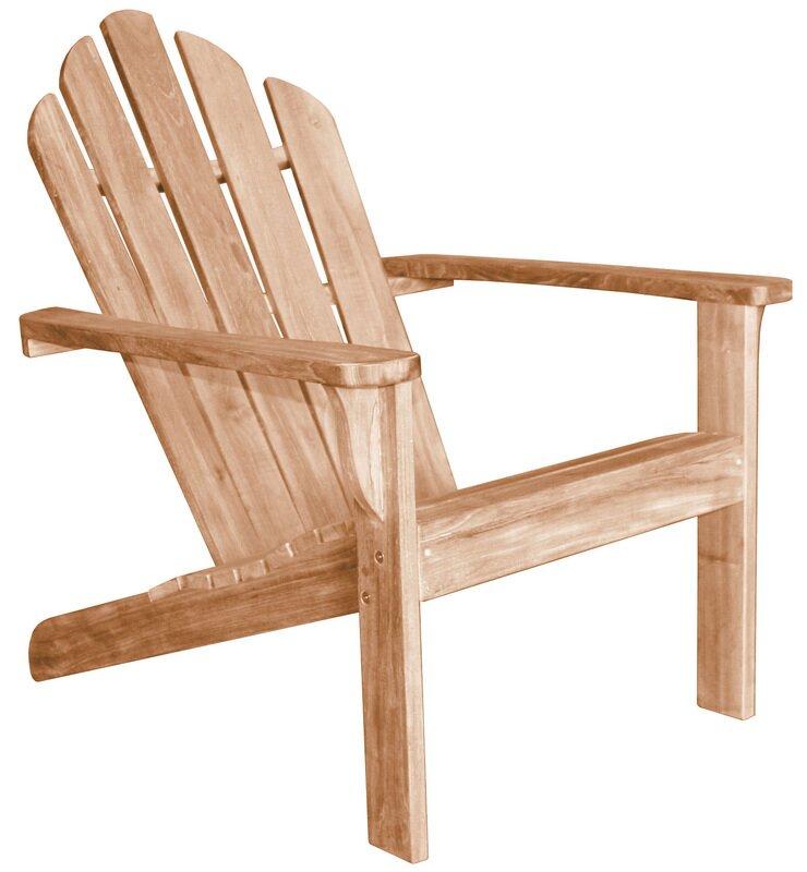 Lakeside Solid Wood Adirondack Chair