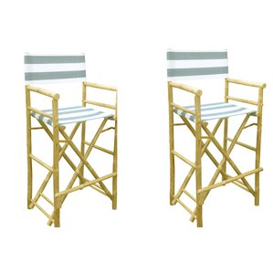 phat tommy foldable tall directors chair set of 2 - Tall Directors Chair