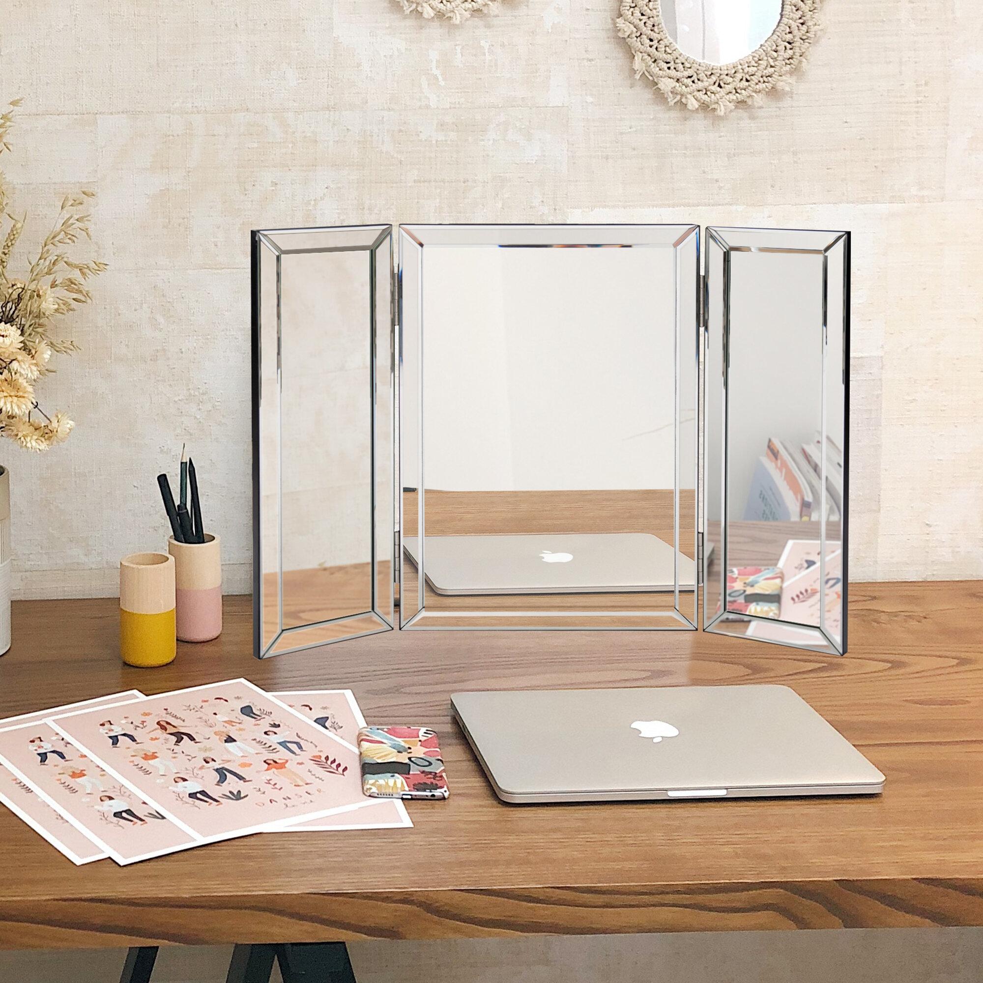 Mercer41 Piscitelli Trifold Modern Vanity Mirror Reviews Wayfair