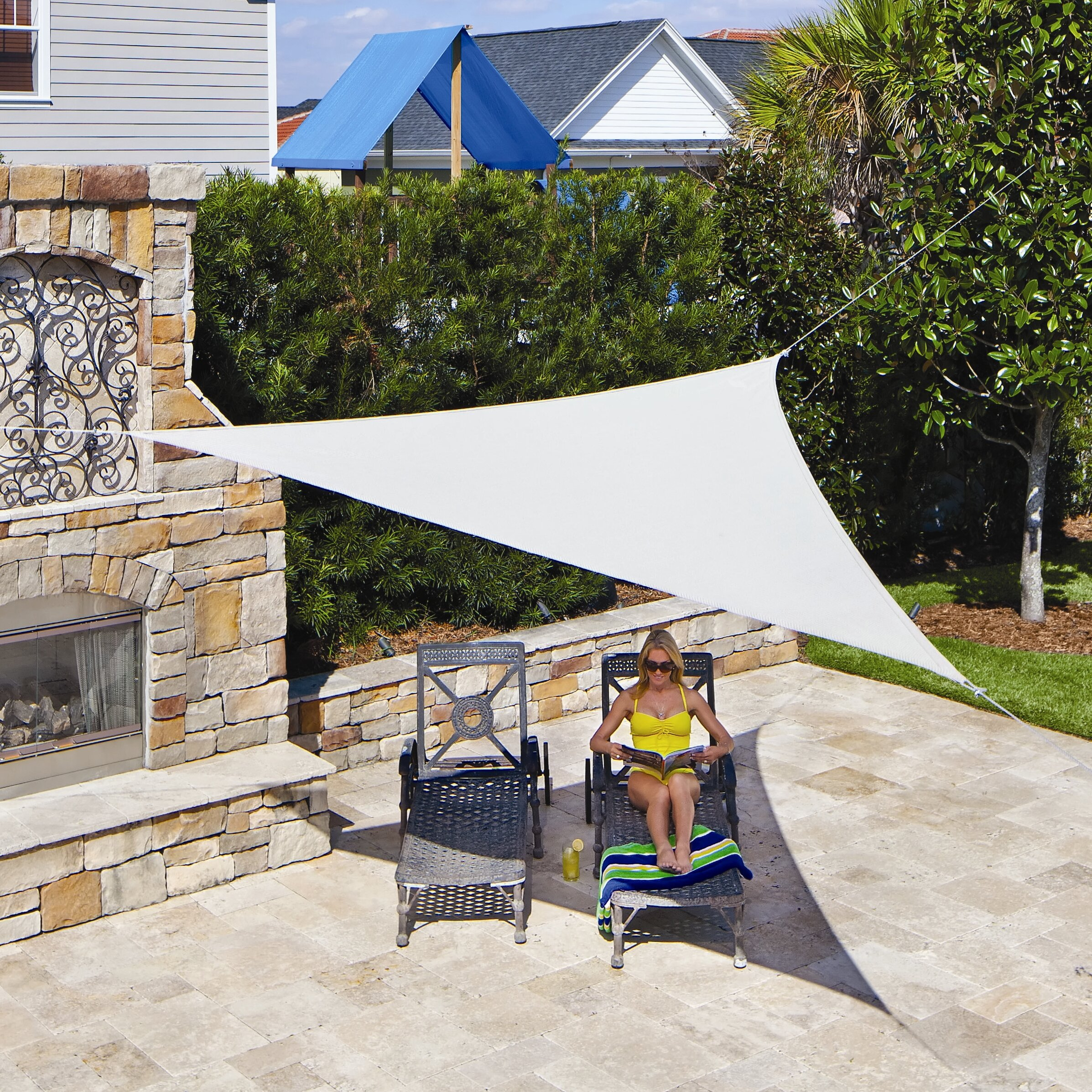 Coolaroo Triangle Shade Sail Reviews Wayfair