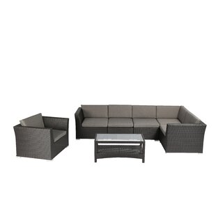Gutirrez Outdoor Complete 7 Piece Sectional Seating Group with Cushion by Ivy Bronx
