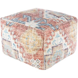 """Aliette 20"""" Wide Rectangle Abstract Pouf Ottoman"""