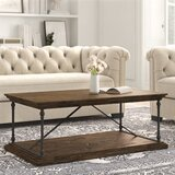 Boyd Floor Shelf Coffee Table with Storage by Kelly Clarkson Home