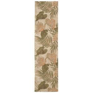 Demirhan Tropical Leaf Outdoor Rug