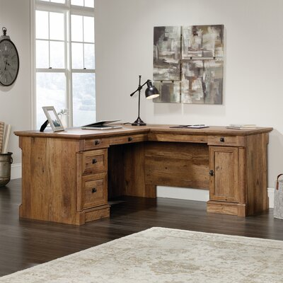 Orviston L-Shape Desk Color: Vintage Oak