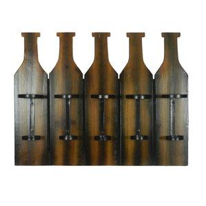 Shah Appealing 5 Wall Mounted Wine Bottle Rack by Loon Peak