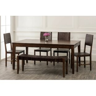 Gambino 6 Piece Dining Set Bloomsbury Market