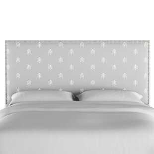 Forcade Nail Button Border Upholstered Panel Headboard