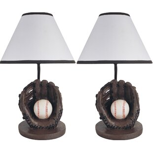 Hilda Sports Baseball 16 Table Lamp (Set of 2)