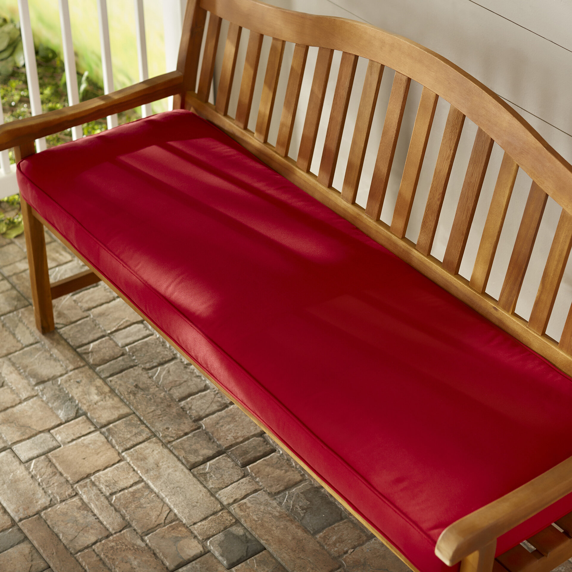 Telleman Indoor Outdoor Sunbrella Bench Cushion Reviews Joss Main