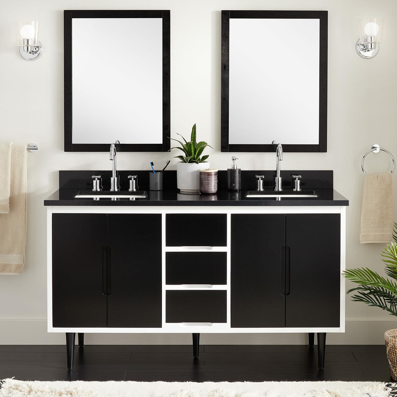 Signature Hardware Bivins 61 Double Bathroom Vanity Set Wayfair