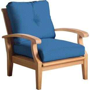 Douglas Nance Cayman Teak Patio Chair with Sunbrella Cushions