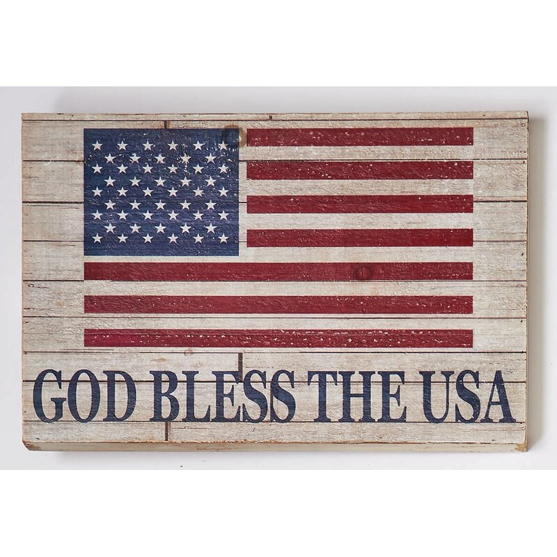 Americana Star God Bless The USA Patriotic Welcome Sign