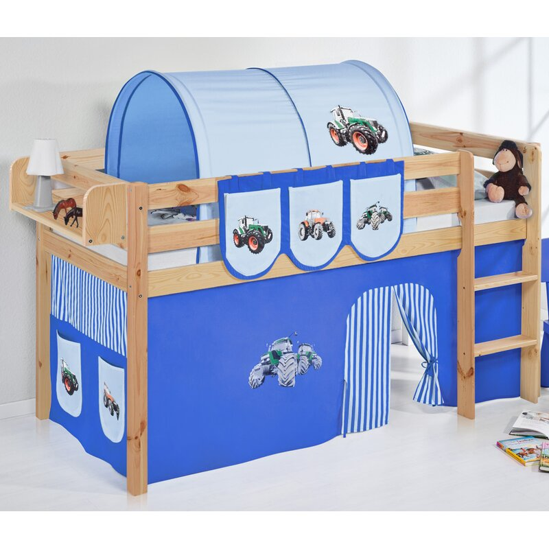 Just Kids Jelle European Single Mid Sleeper Bed With Bottom Bunk