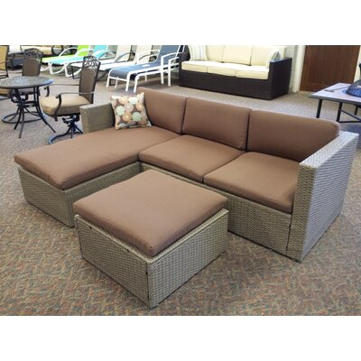 Zeba Patio Sectional Piece with Cushions Bayou Breeze