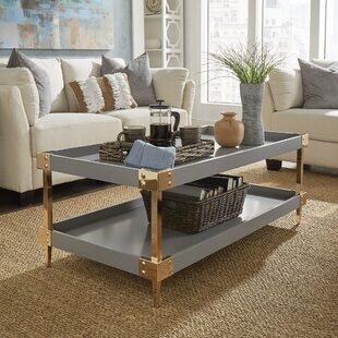 Willa Arlo Interiors Blais Coffee Table With Tray Top