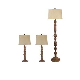 Eulalia 3 Piece Table and Floor Lamp Set by Darby Home Co