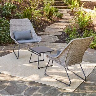 Cargile Patio Garden 3 Piece Bistro Set with Cushions by Brayden Studio