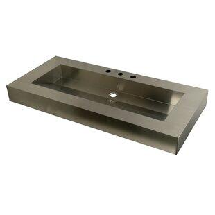 Kingston Brass Stainless Steel Rectangular Drop-In Bathroom Sink