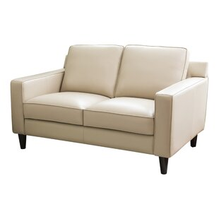 Surprising Nalston Leather Loveseat Squirreltailoven Fun Painted Chair Ideas Images Squirreltailovenorg